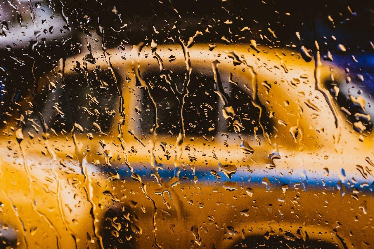 такси через стекло