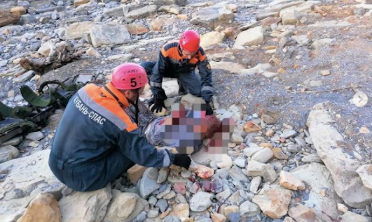 мужчина упал с горы