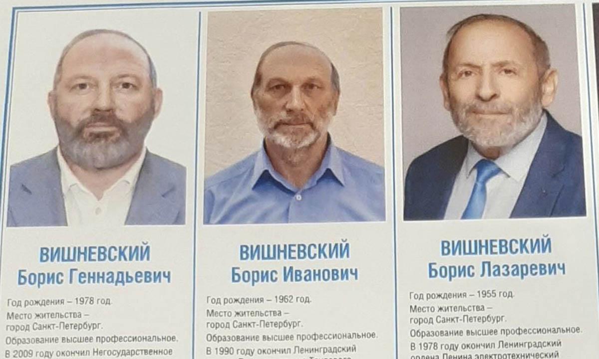 Спойлеры Вишневского Бориса на выборах в ЗакСобрание Петербурга