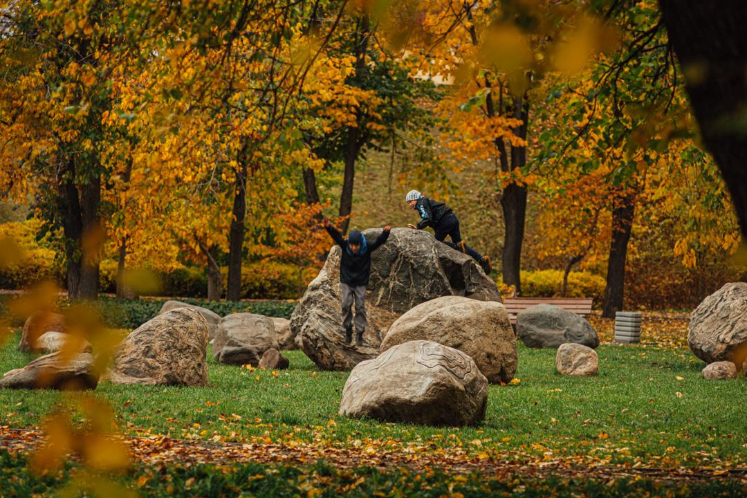 дети в парке, осень, петрозаводск