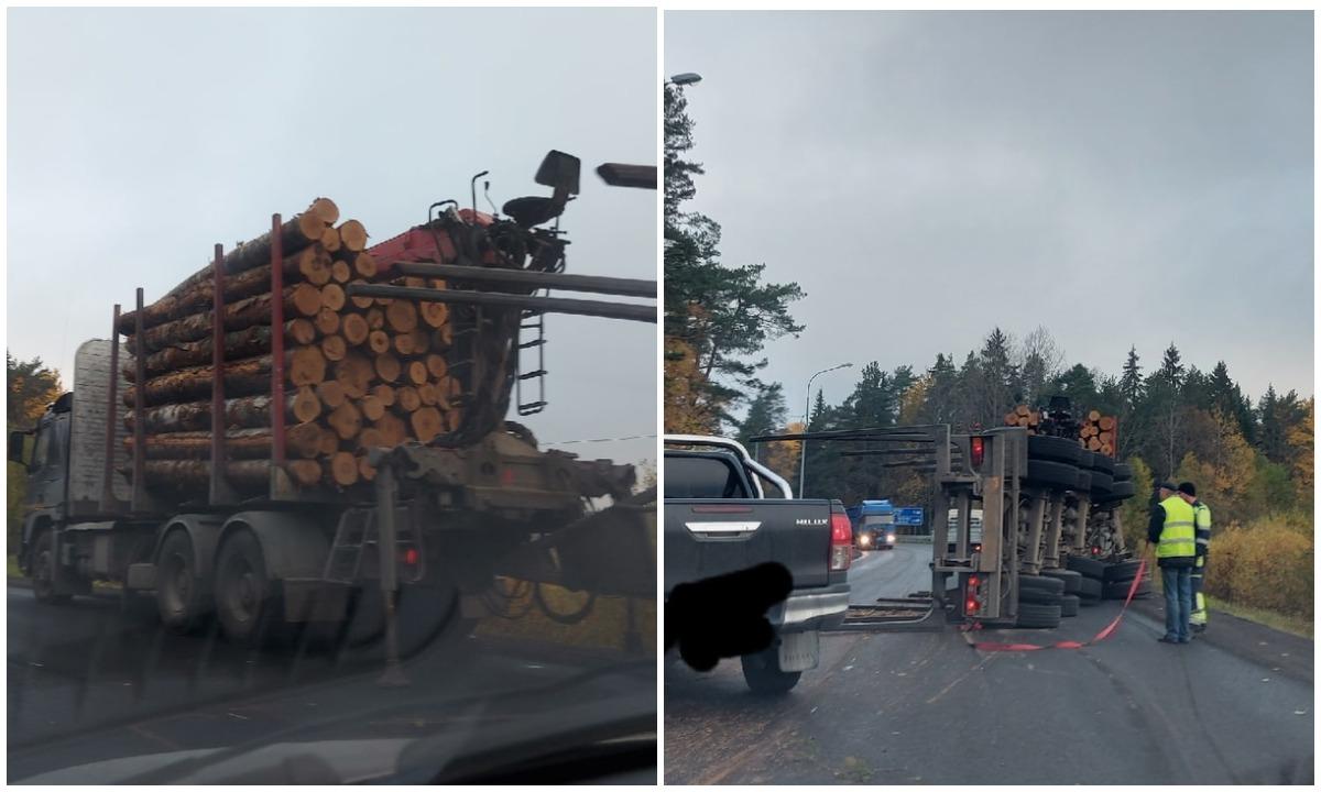 авария лесовоз