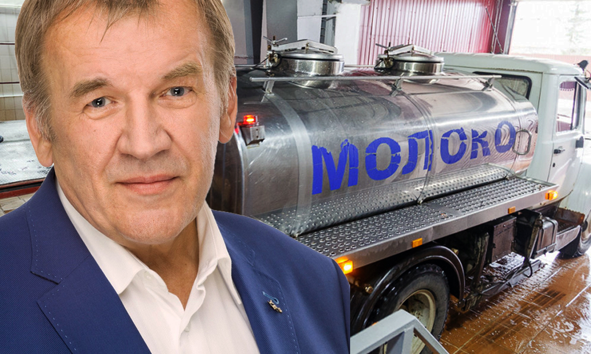 Юрий Васильев депутат Законодательного собрания Карелии молоко Олонец