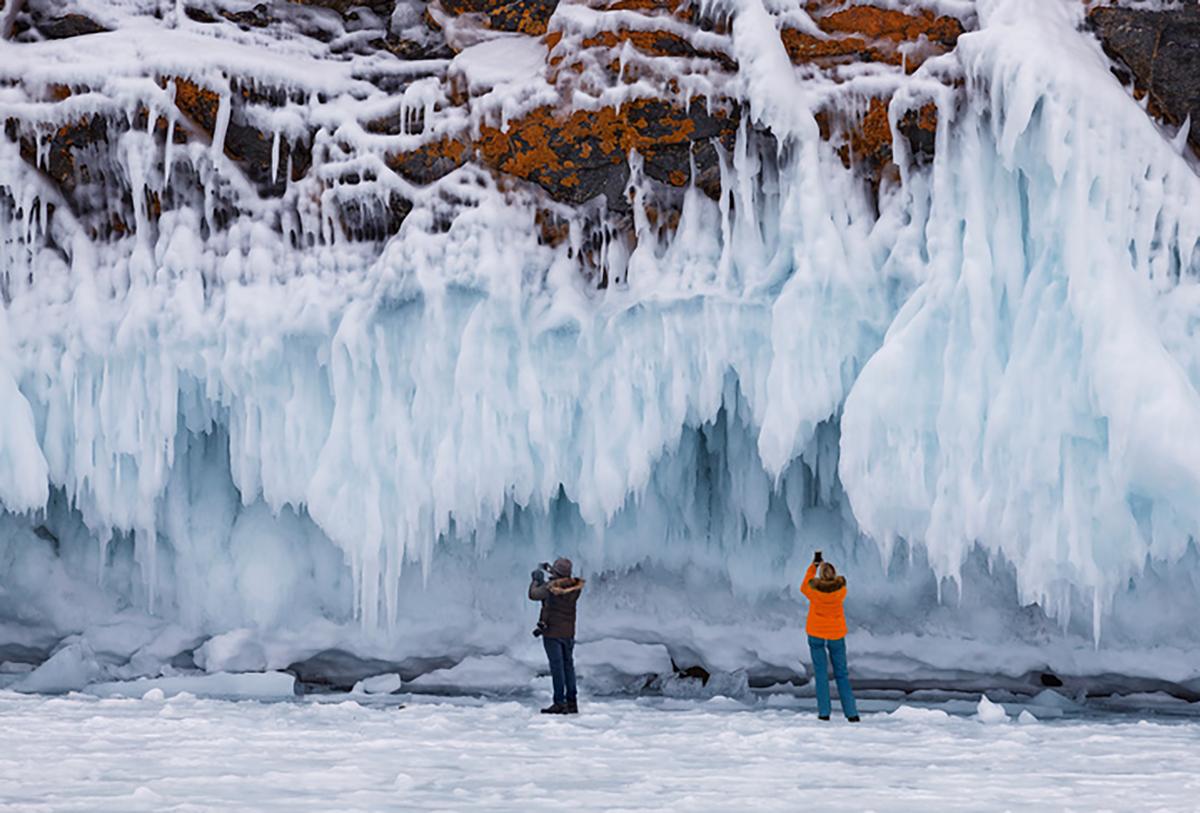Туристы в Сибири